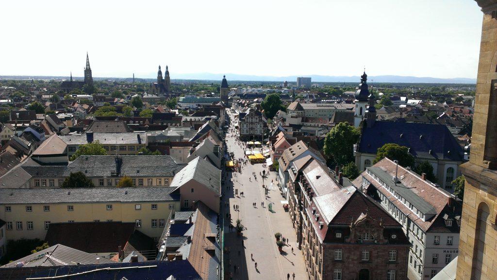 Blick über Speyer vom Dom aus